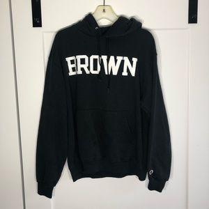 Champion Brown University Hoodie Size Large